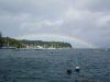 台風18号と虹
