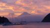 台風前日の富士山と夕焼け